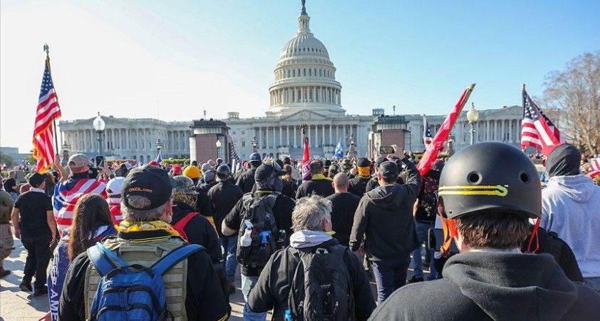 ABD'de Trump destekçilerinin gösterisi nedeniyle Kongre binası kapatıldı