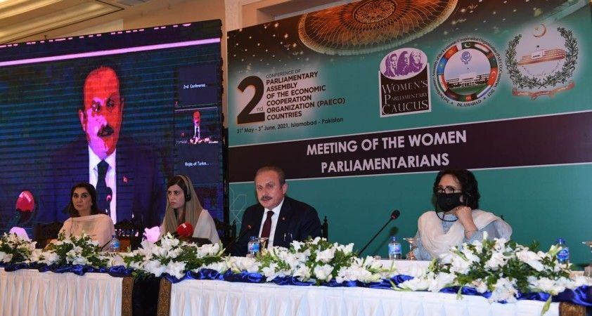 TBMM Başkanı Şentop, EITPA 2'nci Genel Konferansı kapsamında moderatörlük yaptı