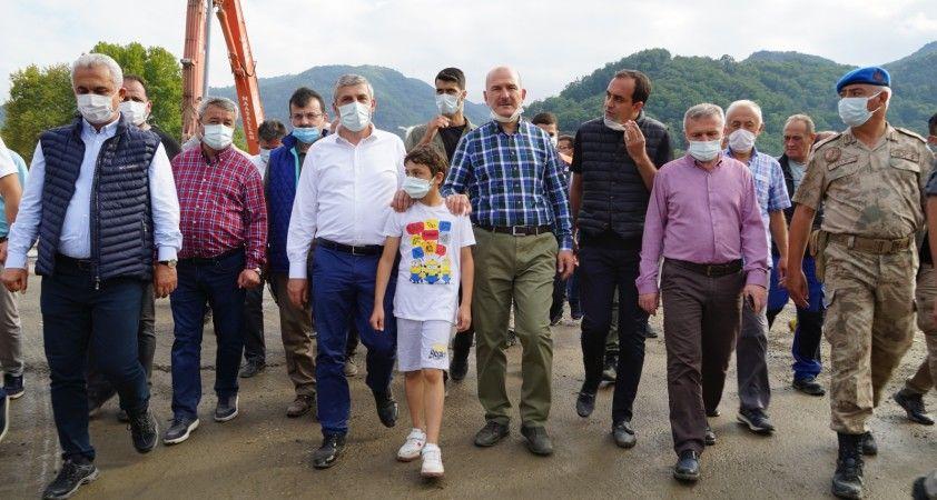 """İçişleri Bakanı Süleyman Soylu: """"Şu ana kadar sel bölgesinde toplam maliyetimiz 5.8 milyar liradır"""""""