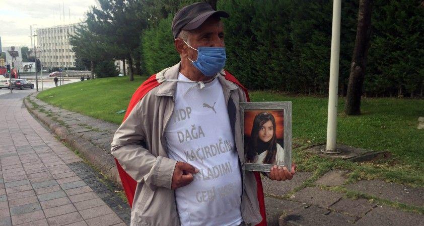 Kızı PKK tarafından dağa kaçırılan baba İzmir'den Ankara'ya yürüdü