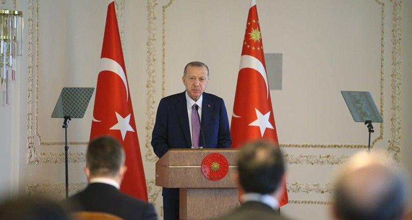 Cumhurbaşkanı Erdoğan TİM heyeti kabulü devam ediyor