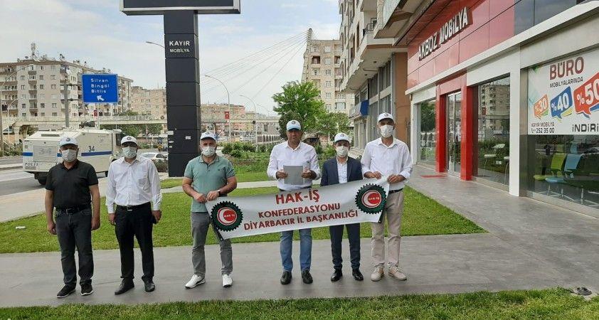 HAK-İŞ Diyarbakır Başkanı Ahmet Dinç'ten 1 Mayıs açıklaması