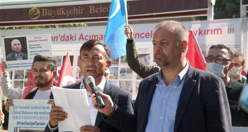 Doğu Türkistanlı mağdurlar Çin'in zulmünü duyurmak için Eskişehir'e geldi