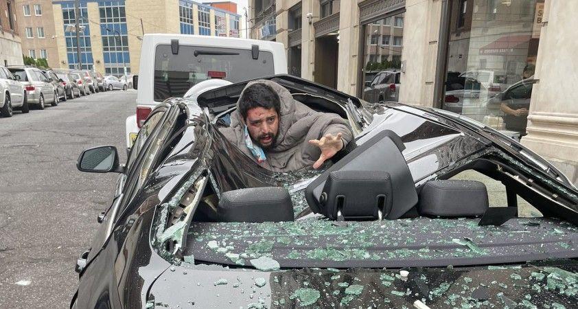 ABD'de 9'uncu kattan düşen adam sağ kurtuldu