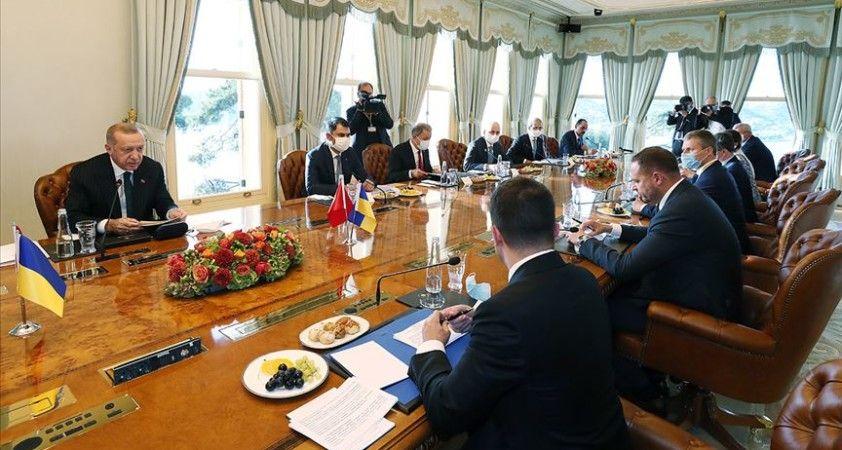 Cumhurbaşkanı Erdoğan ile Ukrayna Devlet Başkanı Zelenskiy başkanlığındaki heyetler arası görüşme sona erdi