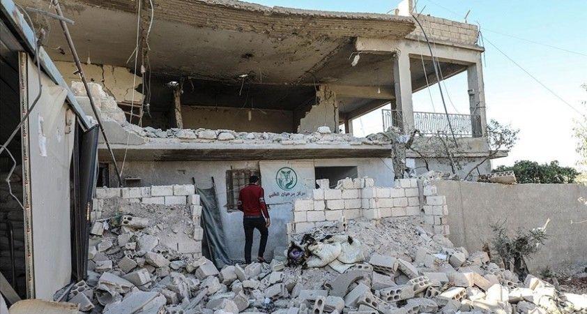 İdlib'deki sağlık merkezine düzenlenen saldırıda bir kişi öldü, bir çocuk yaralandı