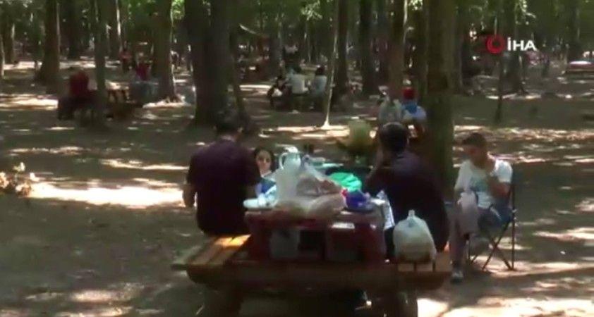 İstanbul'da kalan vatandaşlar Belgrad Ormanı'na akın etti