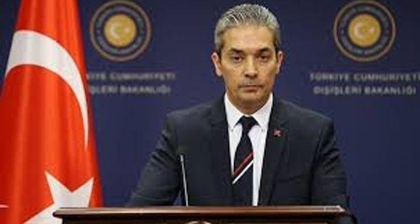 Dışişleri Bakanlığı Sözcüsü Aksoy'dan AB'ye: