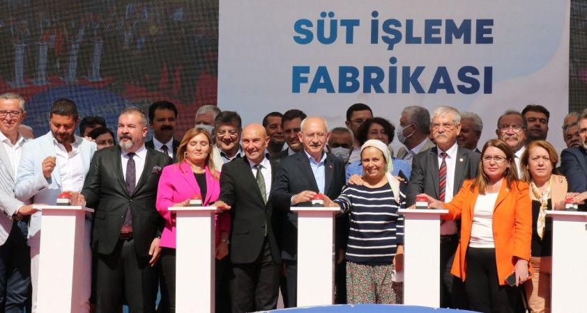 Kılıçdaroğlu süt işletme fabrikasının temel atma törenine katıldı