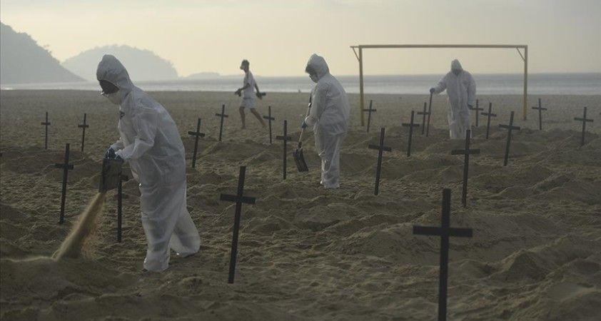 Brezilya'da son 24 saatte Kovid-19'dan 3 bin 86 kişi hayatını kaybetti
