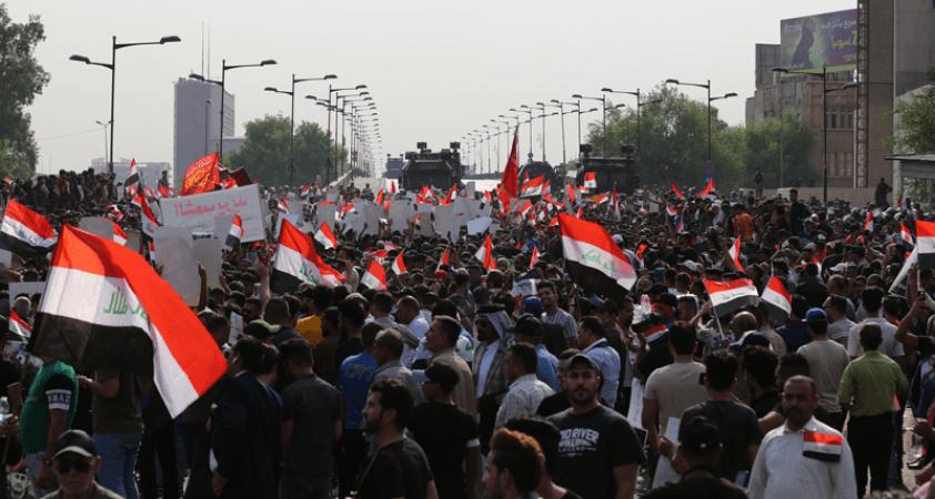 Irak'ta hükümet karşıtı protesto: 1 ölü, 33 yaralı