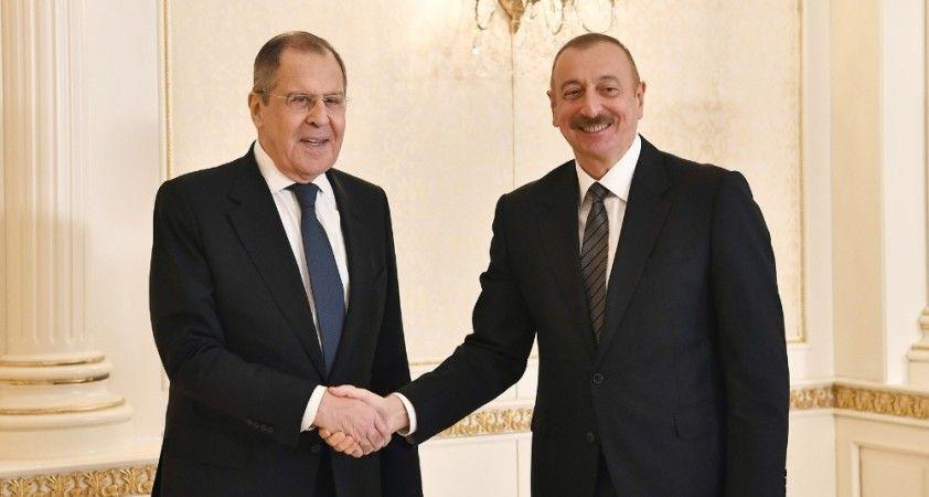 Azerbaycan Cumhurbaşkanı Aliyev, Rusya Dışişleri Bakanı Lavrov'u kabul etti