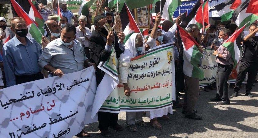 İsrail-BAE anlaşması öncesinde Batı Şeria'da protestolar başladı