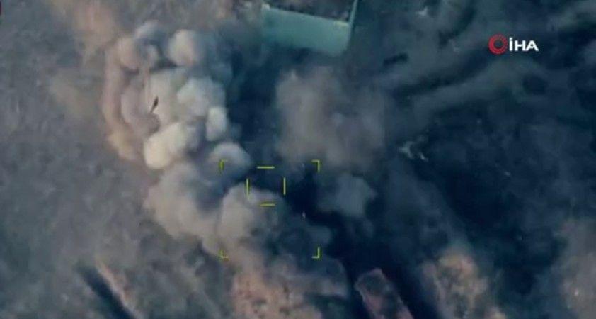 Azerbaycan ordusu, Ermenistan'a ait askeri araçları yerle bir etti