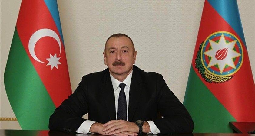 Azerbaycan Cumhurbaşkanı Aliyev: Azerbaycan 44 günde tarihi bir zaferle topraklarını kurtardı