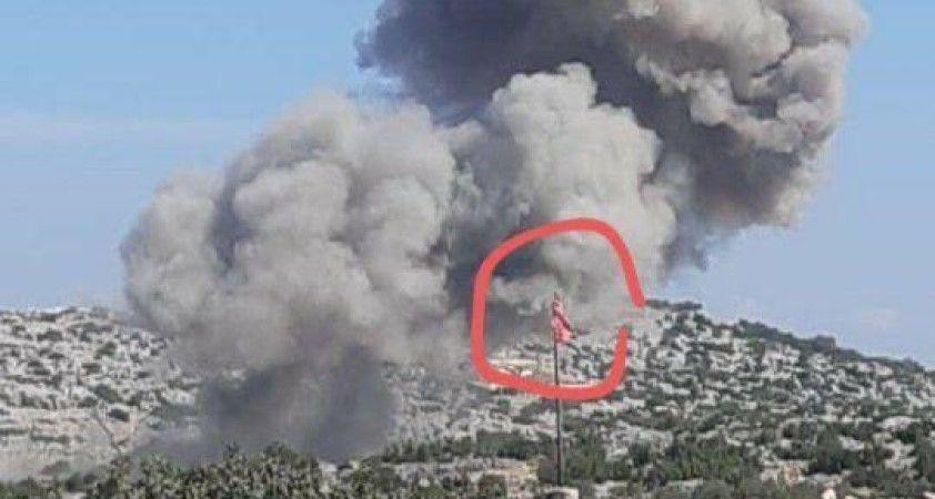 Rus savaş uçakları, İdilib güneyinde bulunan Bare ve Kensafra beldelerini vuruyor