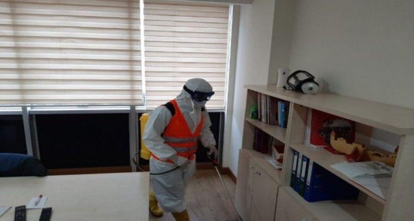 Bağlar Belediyesi basın bürolarını dezenfekte etti