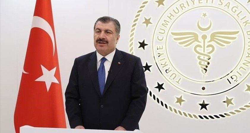 Sağlık Bakanı Koca, Ağrı'nın aşılamada 'mavi' kategorideki iller arasına girdiğini açıkladı