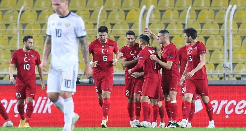Türkiye, UEFA Uluslar Ligi'ndeki beşinci maçında Rusya karşısında kazandı