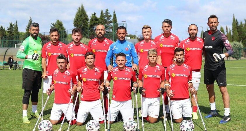 Ampute Milli Futbol Takımı yeniden şampiyonluk için sahada