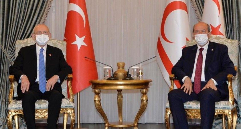 KKTC Cumhurbaşkanı Tatar, CHP Genel Başkanı Kılıçdaroğlu'nu kabul etti