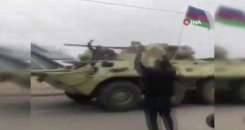Ermenistan'ın çekilmeye başladığı Ağdam'a Azerbaycan askerleri yerleşiyor