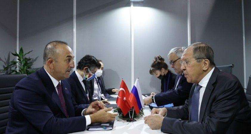 Bakan Çavuşoğlu, Rus mevkidaşı Lavrov ile görüştü