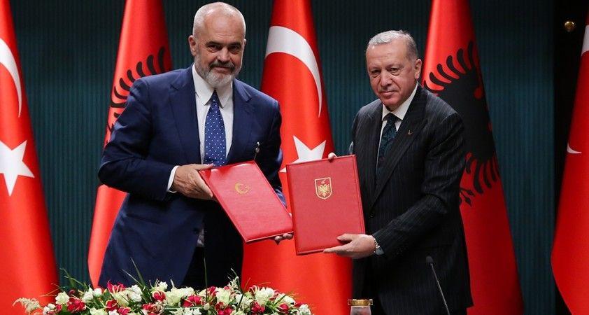 Erdoğan-Rama ortak basın toplantısı