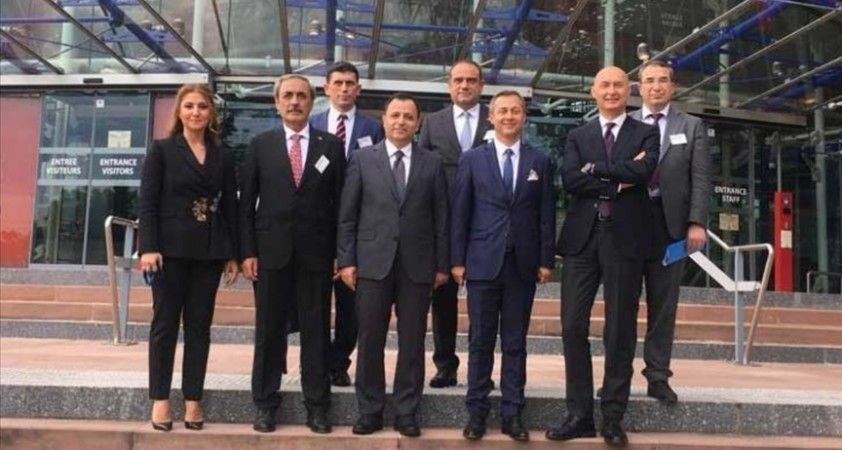Anayasa Mahkemesi Başkanı Arslan ve beraberindeki heyet, AİHM Adli Yıl Açılış Programı'na katıldı