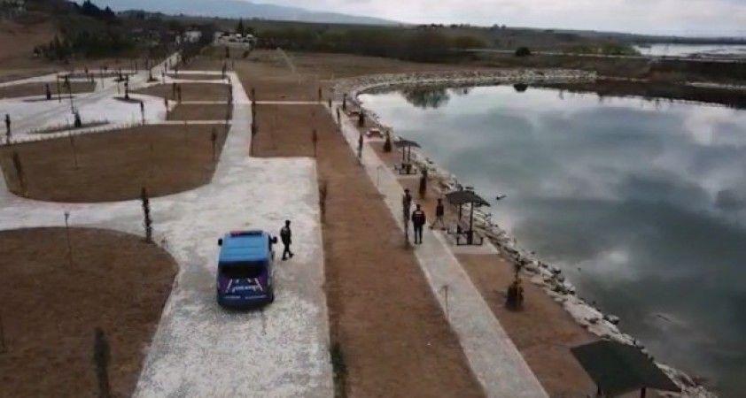 Kırıkkale'de drone ile korona virüs denetimleri