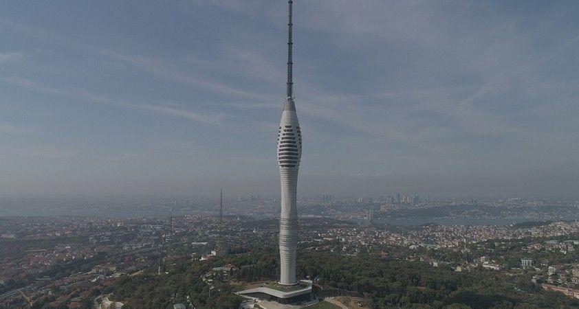 Yayına başlanan Çamlıca Kulesi'nin son hali havadan görüntülendi