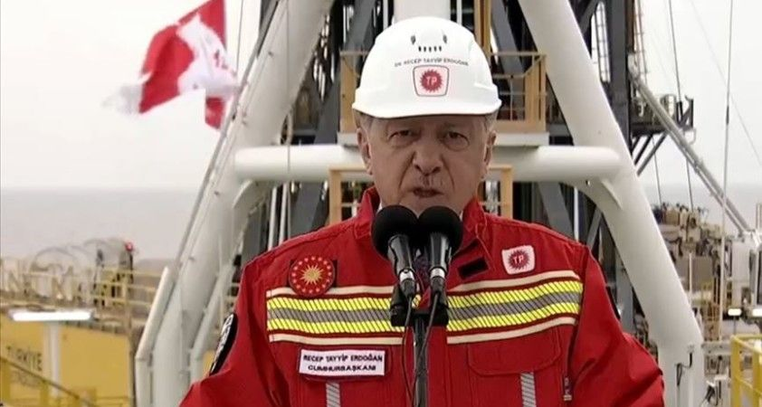 Erdoğan: Sakarya Sahası'nın Tuna-1 bölgesindeki toplam doğal gaz rezervi miktarı 405 milyar metreküpü buldu