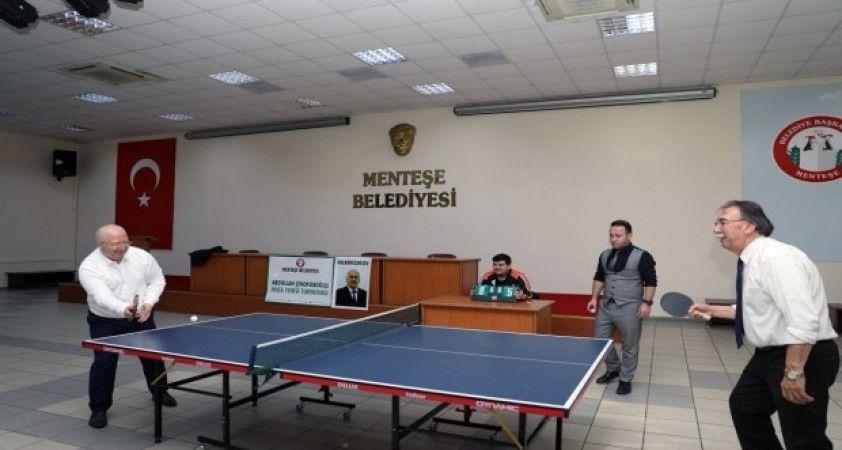 Abdullah Şinoforoğlu Masa Tenisi turnuvası başladı