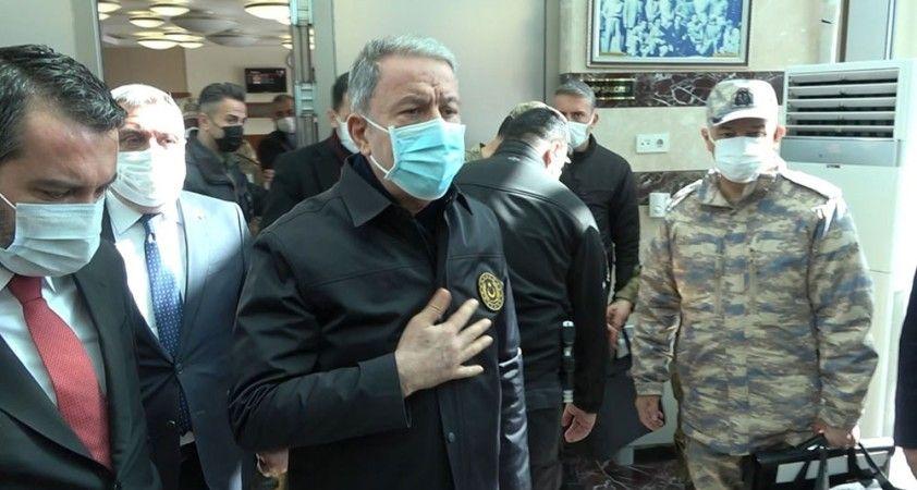 """Milli Savunma Bakanı Akar: """"Yaralıların durumu şu an iyi ve kontrol altında"""""""