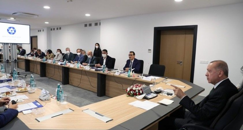 Cumhurbaşkanı Erdoğan, Akkuyu NGS sahasında incelemelerde bulundu