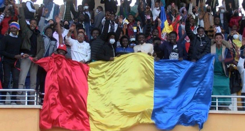 Tokat'ta, Afrikalı öğrencilerin futbol heyecanı