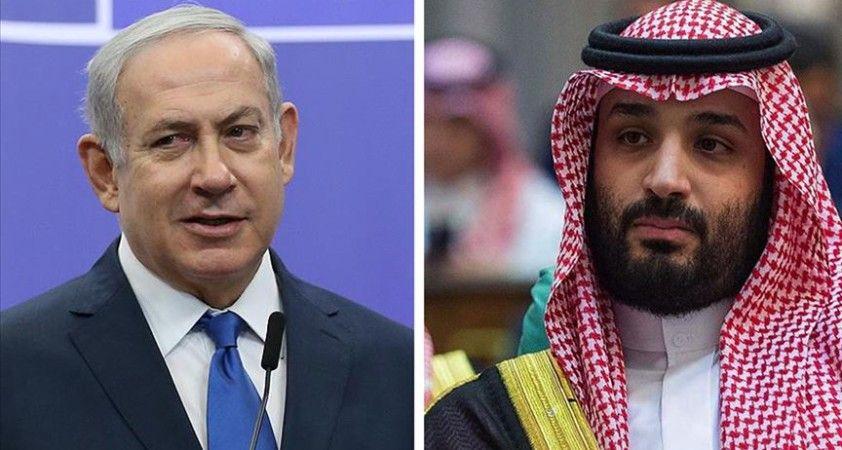 İsrail gazetesi: Netanyahu, dün Suudi Arabistan'a giderek Veliaht Prens Bin Selman'la görüştü