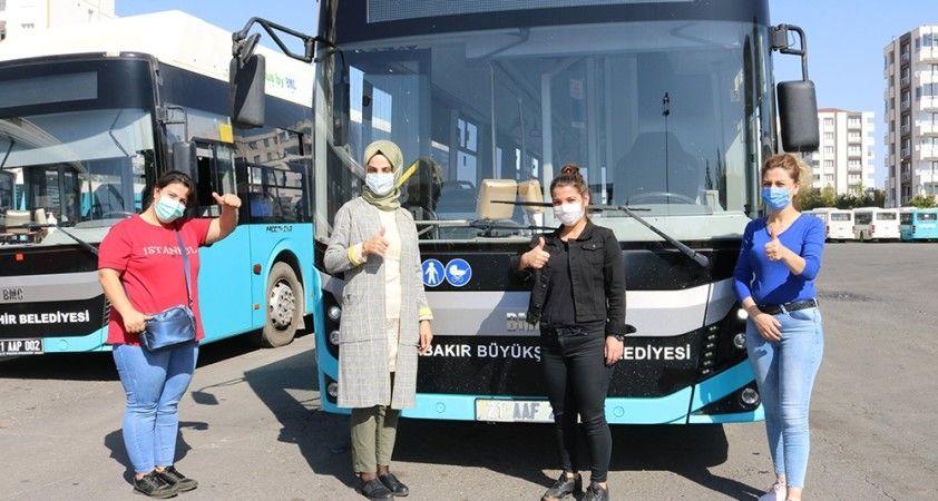 Diyarbakır'ın kadın otobüs şoförleri iş başında