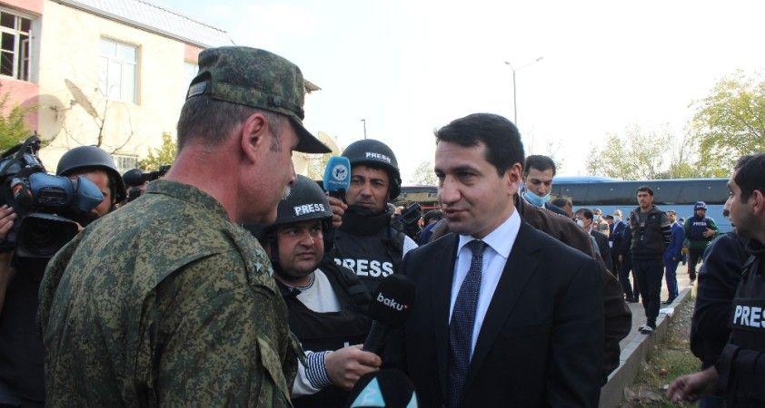 Azerbaycan Cumhurbaşkanı Yardımcısı Hacıyev, Terter kentini ziyaret etti