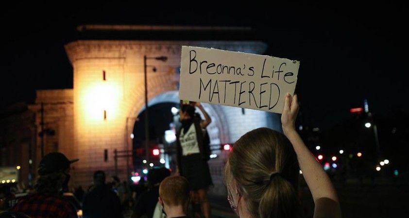 ABD'nin Kentucky eyaletindeki Taylor davası protestoları hafta sonu da sürdü