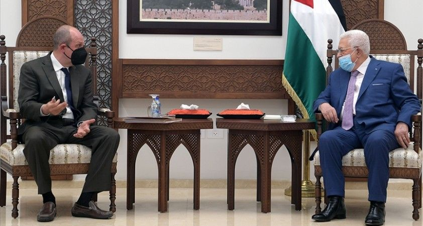 Filistin Devlet Başkanı Abbas ABD'nin İsrail-Filistin Özel Temsilcisi Amr'ı kabul etti