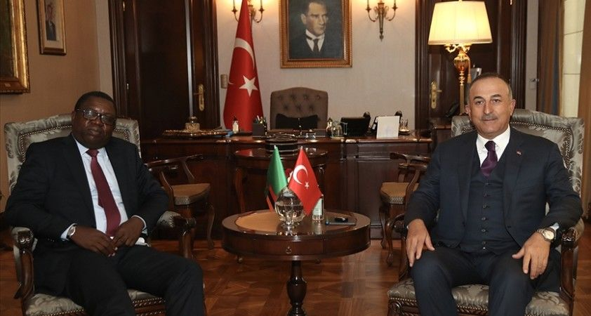 Dışişleri Bakanı Çavuşoğlu, Zambiyalı mevkidaşıyla bir araya geldi