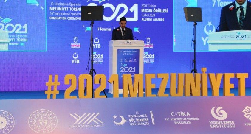 """YTB Başkanı Eren: """"Bu sene 2 bin 300'den fazla öğrencimizi mezun ediyoruz"""""""