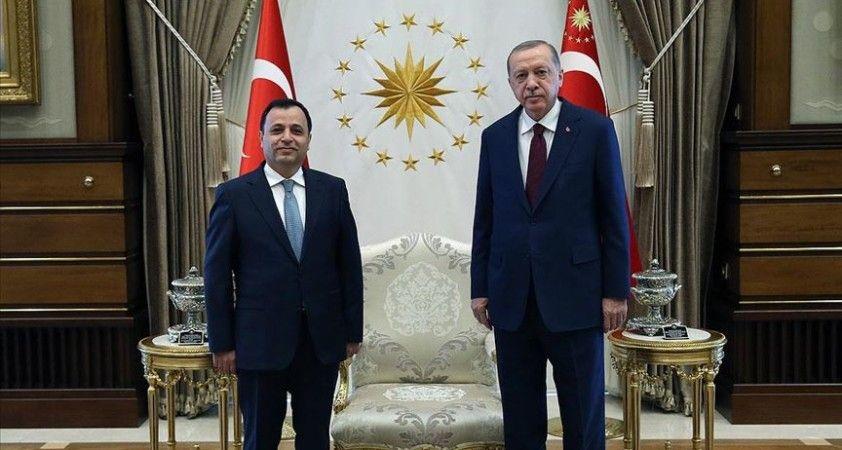 Cumhurbaşkanı Erdoğan Anayasa Mahkemesi Başkanı Arslan'ı kabul etti