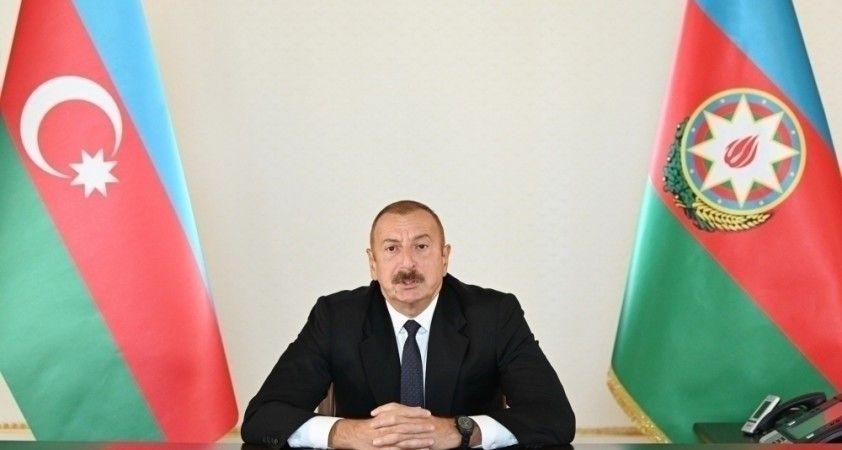 """Cumhurbaşkanı Aliyev: """"Türk-Azerbaycan birlik ve kardeşliği dünyada önemli bir unsur haline geldi"""""""