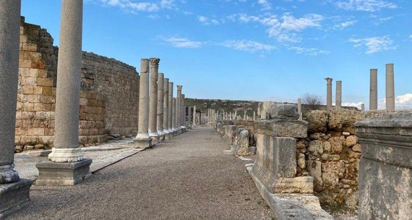 Perge Antik Kenti 2020 yılında sessiz kaldı
