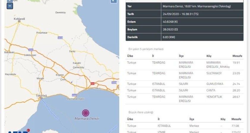Tekirdağ Valiliğinden deprem açıklaması: