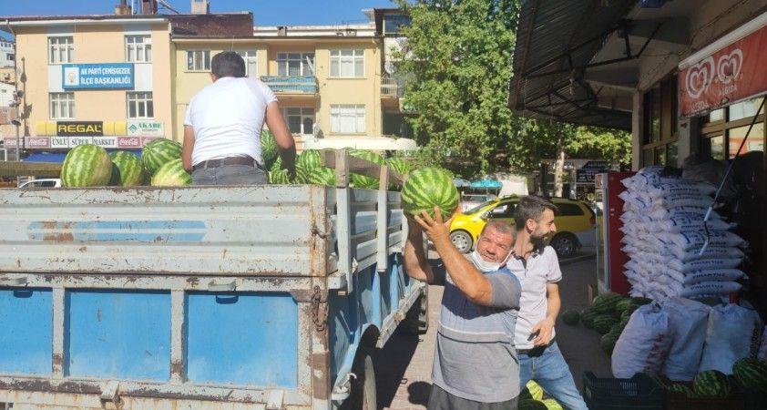 Tunceli'de 'Hıdıroz' ismi verilen organik karpuz tezgahlardaki yerini aldı