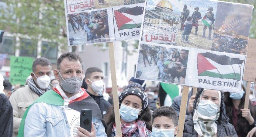 Köln kentinde İsrail saldırıları protesto edildi