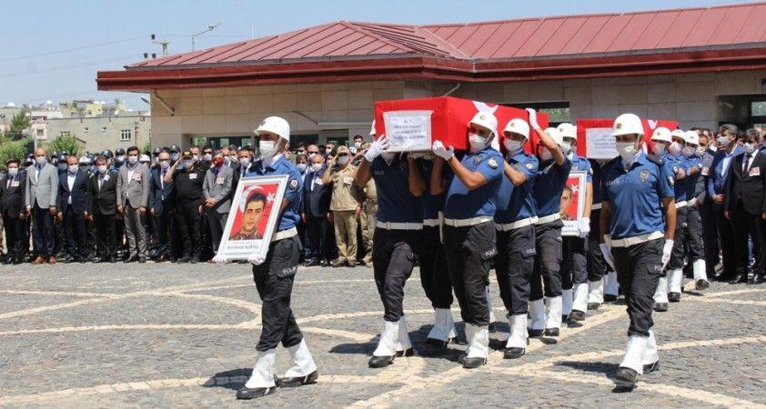 Siirt'te şehit olan 2 özel harekat polisi memleketlerine uğurlandı